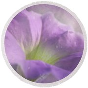 Morning Glory Round Beach Towel by Ann Lauwers