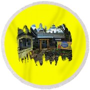 Morning Glory Cafe Ashland Round Beach Towel by Thom Zehrfeld