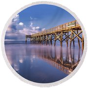 Morning Gold - Isle Of Palms, Sc Round Beach Towel