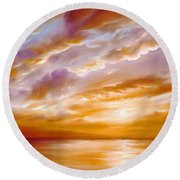 Morning Grace Round Beach Towel