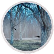 Morning Grove Round Beach Towel