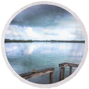 Morning Has Broken In Green Turtle Cay Round Beach Towel