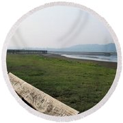 Morning Haze Round Beach Towel