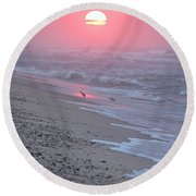 Round Beach Towel featuring the photograph Morning Haze by  Newwwman