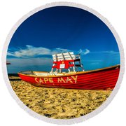 Morning In Cape May Round Beach Towel