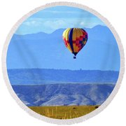 Morning In Montana Round Beach Towel