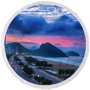 Morning In Rio Round Beach Towel