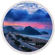Morning In Rio Round Beach Towel