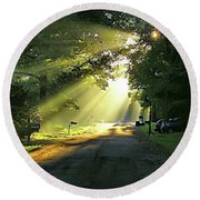 Round Beach Towel featuring the photograph Morning Light by Brian Wallace