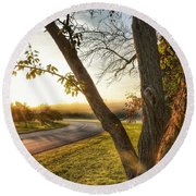 Round Beach Towel featuring the photograph Morning Light by Nikki McInnes