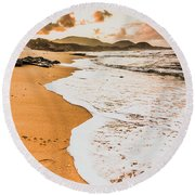 Morning Marine Wash Round Beach Towel
