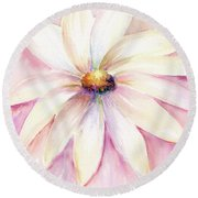 Round Beach Towel featuring the painting Morning Mist by Elizabeth Lock