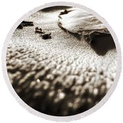Morning Mushroom Top Round Beach Towel