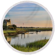 Morning On The Creek - Wild Dunes Round Beach Towel