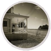 Round Beach Towel featuring the photograph Morning On The Marsh by Samuel M Purvis III