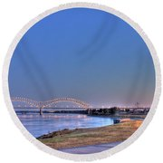 Morning On The Mississippi Round Beach Towel