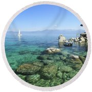 Round Beach Towel featuring the photograph Morning On The Water by Sean Sarsfield