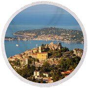 Morning Over Eze Round Beach Towel