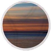 Morning Pastels Round Beach Towel