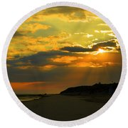 Morning Rays Over Cape Cod Round Beach Towel