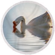 Morning Refresh Round Beach Towel by Cyndy Doty