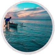 Morning Ritual Round Beach Towel
