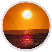 Morning Sun Break Round Beach Towel