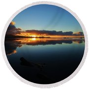 Morning Sun Round Beach Towel
