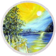Morning Sunrise. Life Is Beautiful Round Beach Towel