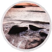 Round Beach Towel featuring the photograph Morning Tide by Jorgo Photography - Wall Art Gallery