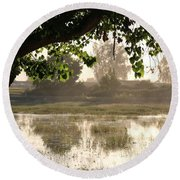 Morning Tranquility  Round Beach Towel