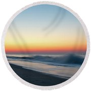 Morning Waves - Beach Haven Round Beach Towel