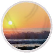 Morning Waves Round Beach Towel