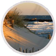 Morning's Light Round Beach Towel