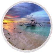 Morningtide 2.0 Round Beach Towel by Yhun Suarez