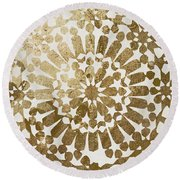 Moroccan Gold II Round Beach Towel