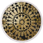 Moroccan Gold Iv Round Beach Towel