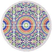 Moroccan Tiles Round Beach Towel