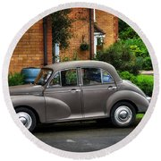 Morris Minor Round Beach Towel by Pennie  McCracken