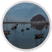 Morrow Bay Reflection Round Beach Towel