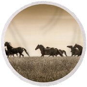 Mortana Morgan Mares Round Beach Towel