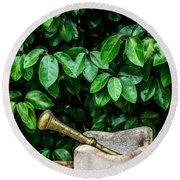 Mortar And Pestle Round Beach Towel by Marco Oliveira