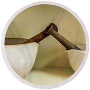 Round Beach Towel featuring the photograph Mortar And Pestle by Paul Freidlund