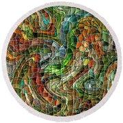 Mosaic #75 Round Beach Towel