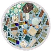 Mosaic No. 6-1 Round Beach Towel