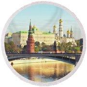 Moscow, Kremlin Round Beach Towel