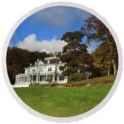 Moses Cone Flat Top Manor Round Beach Towel