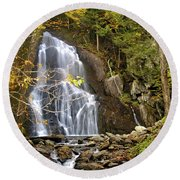 Moss Glen Falls Round Beach Towel