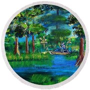 Moss Picker Impression Digital Round Beach Towel