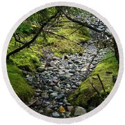 Moss Stream Round Beach Towel